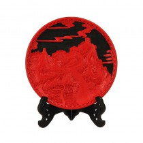 Carved lacquer disc 12 inch great wall black-matrix
