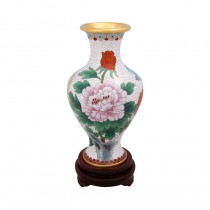 cloisonne water peony goddess of mercy bottle