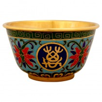Cloisonne golden bowl small