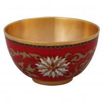 Cloisonne pauline red bowl