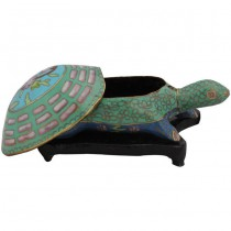 Cloisonne turtle box