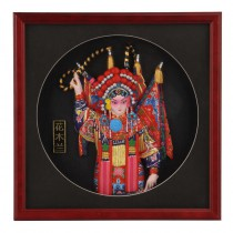 Exquisite opera mask half-length gifts abroad Hua Mulan
