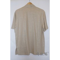 Male tang suit bamboo hemp male short-sleeve