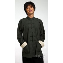 Polysterflax top chinese style tang suit male