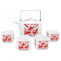 Tea set festive paper cutting