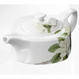 Bone china teapot jasmine pot set
